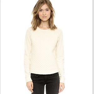 Rag and bone - rein quilt pullover cotton sweater